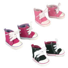High Top Canvas Sneakers For 18 Inch Dolls