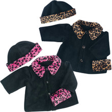 "Animal Print Coat Set w/ Hat and Muff 18"" American Girl Dolls"