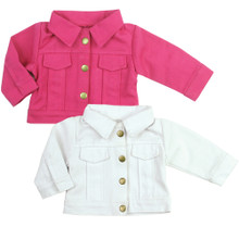 "Sophia's Colored Denim Jacket Fits 18"" American Girl Dolls"