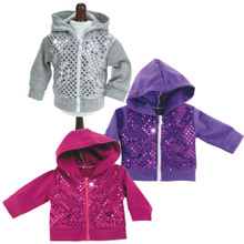 "Sequin Hooded Sweatshirt fits 18"" American Girl Dolls"