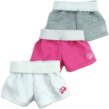 "Sport shorts with Fold-Down Waistband fits 18"" American Girl Dolls"