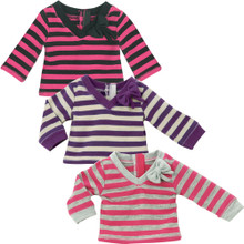 "Long Sleeve Striped T-Shirt fits 18"" American Girl Dolls"