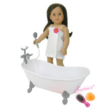 Bathtub and Shower for 18 inch American Girl Dolls