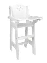 White Hand Painted Baby Doll High Chair