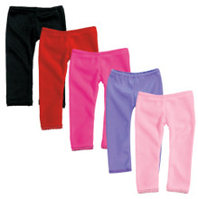 "Colored Leggings w/ Lace Trim Fits 18"" American Girl Dolls"