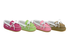 """Suede Mocassin Slippers fit 18"""" American Girl Dolls"""