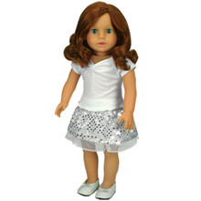 """Sophia's 18"""" Auburn Doll with Complete Outfit"""