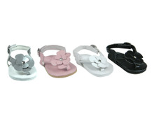 Leather Sandals w/Flower Detail Fit 18 Inch Dolls