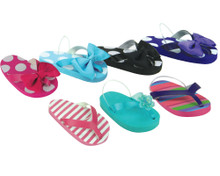 "Patterned Flip Flops with Ankle Strap fits 18"" American Girl Dolls"