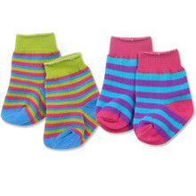 "Multi-Color Striped Knee-High Socks fits 18"" American Girl Dolls"