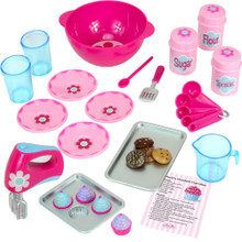 "22 Piece Baking Accessories Set for 18"" Dolls in Decorative Window Box"