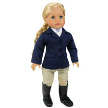 "Traditional 3-Piece Riding Outfit fits 18"" American Girl Dolls"