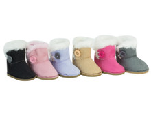 Side Button Ewe Boots Fit 18 Inch Dolls