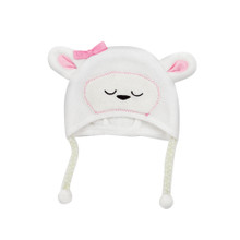 "Lamb Fleece Hat fits 15"" Baby Dolls"