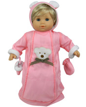 Polar Bear Snowsuit  Fits 15 Inch Baby Dolls