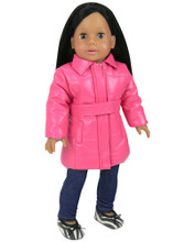 "Pink Puffer Doll Coat Fits 18"" American Girl Dolls"