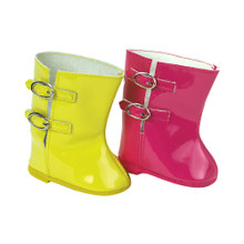 18 In Doll Patent Rain Boots fits American Girl Doll Boots