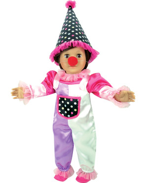 "Sophia's 5-Piece Clown Costume Fits 18"" Dolls"