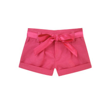 "Hot Pink Tie-Waist Pleated Shorts Fits 18"" American Girl Dolls"