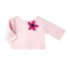 "Light Pink Boat Neck 3/4 Sleeve Tee fits 18"" American Girl Dolls"