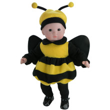 "15"" Baby Doll Bubble Bee Costume, Antenna Hat & Tights fits 15"" Bitty Baby"