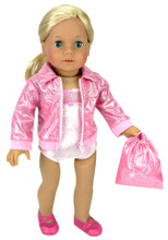 Pink Gymnastics Leotard, Jacket & Bag
