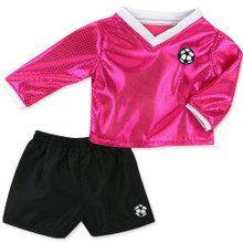 Fuchsia Soccer Outfit & Ball