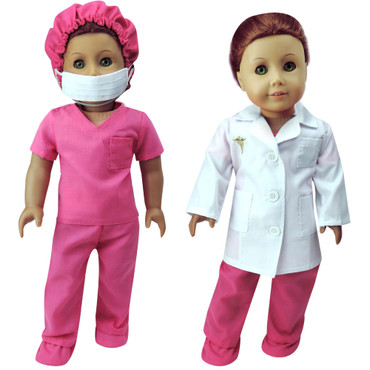 Sophia's Complete Medical Scrubs Set For 18 Inch Dolls