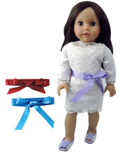 "Long Sleeve Lace Dress for 18"" Dolls"