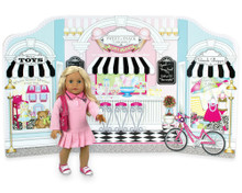 Reversible PlayScene: Beauty Parlor & Sweet Shoppe on Main Street