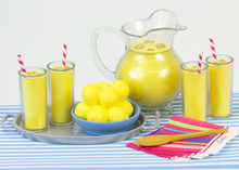 Lemonade Set for 18 Inch Dolls in Decorative Window Box