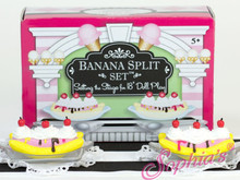 Banana Split Set in a Decorative Keepsake Box