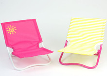 "Set of 2 Lounge Beach Chairs for 18"" American Girl Dolls"
