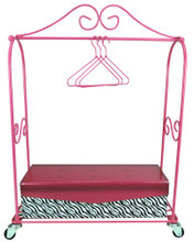 "Rolling Rack Clothing Storage & Display Set for 18"" Doll Clothes"