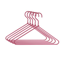 Set of 5 Hot Pink Wire Hangers
