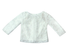 "Sophia's Ivory Long Sleeve Lace Top with attached Ivory Tank Top Shell fits 18"" Dolls"