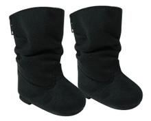 Black Slouchy Boots fits 18 Inch American Girl Doll