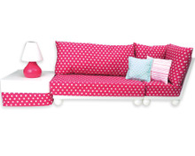 Love Seat Sofa Sectional Set for 18 inch Dolls