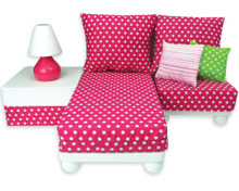 Chaise Lounge Sofa Sectional Set for 18 inch Dolls