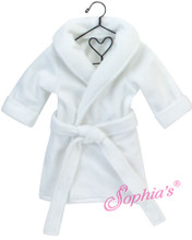 "Soft White Robe fits 18"" American Girl Doll"