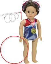 5-pc Gymnastics Set w/ Hoop for 18 In Dolls