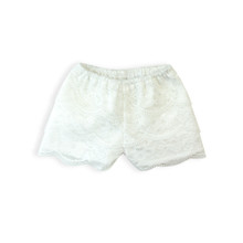 White Lace Dress Shorts fits 18 in Dolls