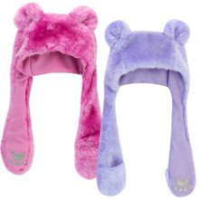 Fur Hat w/ Bear Paw Hand Warmers fits American Girl