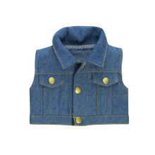 Denim Vest  for 18 Inch Dolls