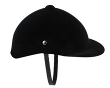 Black Velvet Riding Helmet for 18 Inch Dolls
