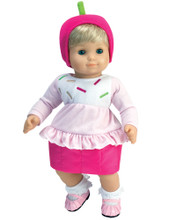 "Pink Cupcake Costume for 15"" Baby Dolls"