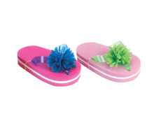 "Thick Sole Flower Flip Flops For 18"" Dolls"