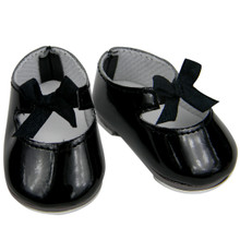 "Black Jazz Tap Shoes For 18"" Dolls"