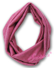 "Heather Fuchsia Infinity Scarf for 18"" Dolls"