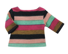 Wide Stripe Tunic Sweater Fits 18 Inch American Girl Dolls